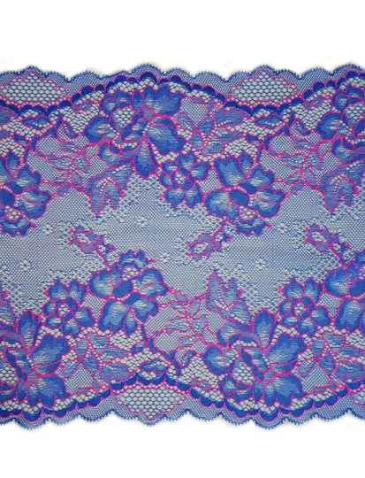 Knitted lace blue / pink