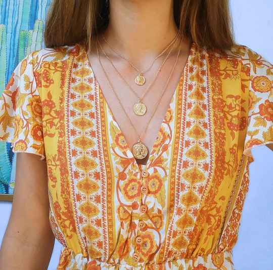 Coinfigure necklace