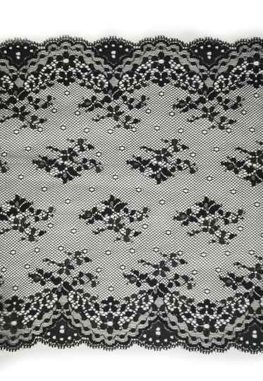 Knitted lace black small flower
