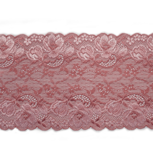 Knitted lace old pink