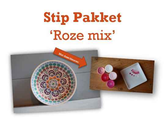 Stippakket Roze mix