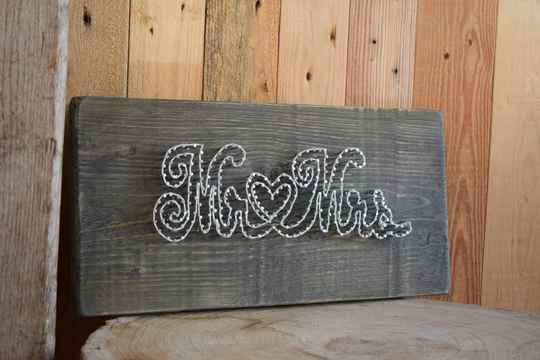Stringart  'Mr&Mrs/Home/Family'