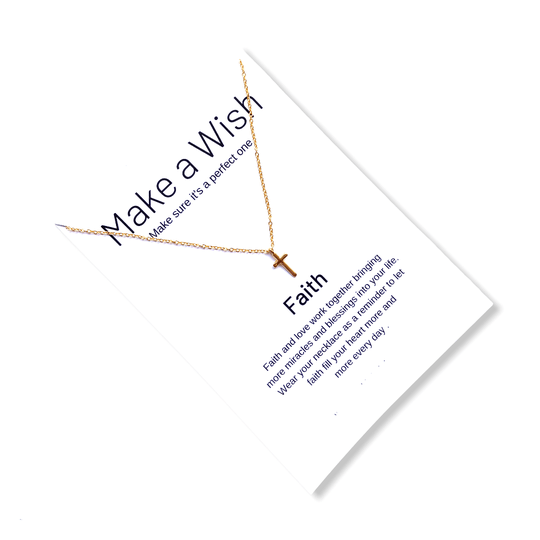 Cross Make a Wish Necklace
