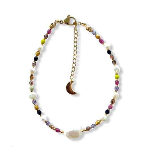 Pretty Shadow Pearls Anklet