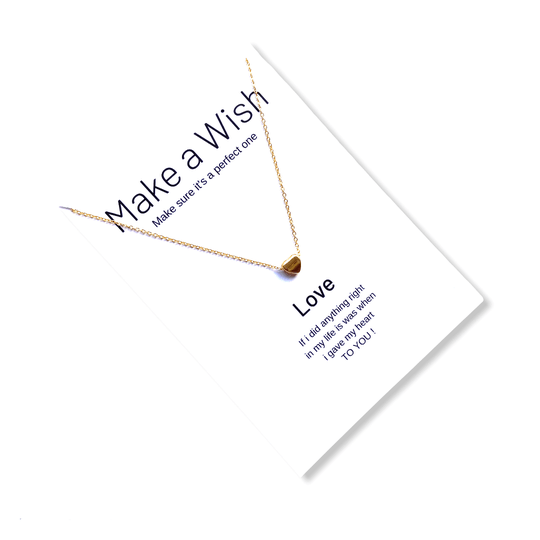 Love Make a Wish Necklace