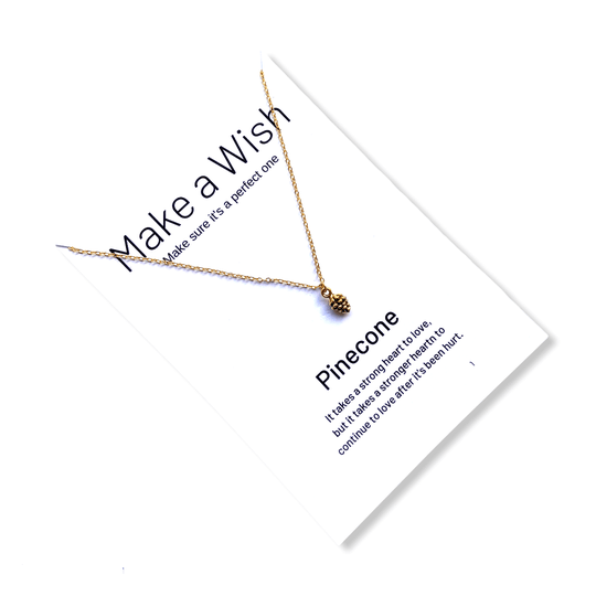 Pinecone Make a Wish Necklace