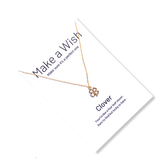 Clover Make a Wish Necklace