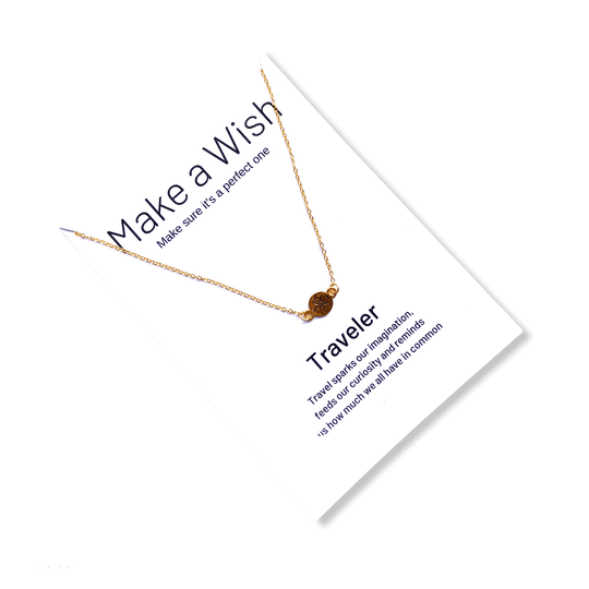 Compass Make a Wish Necklace