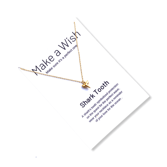 Shark Tooth  Make a Wish Necklace
