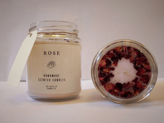 Special edition rose scented candle