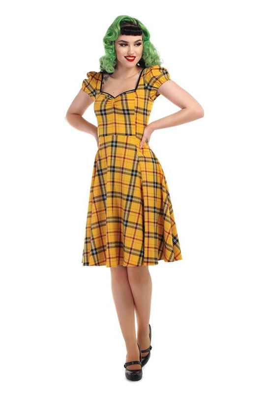 Mimi Clueless check doll dress Collectif