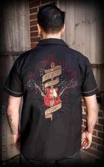 New! Rumble59 Rock this Town lounge shirt