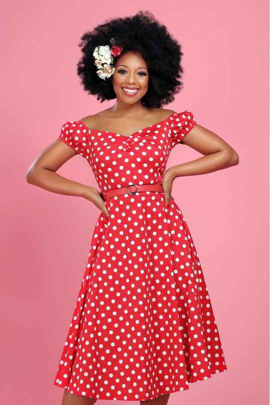 Dolores Doll dress Polka Dot red Collectif
