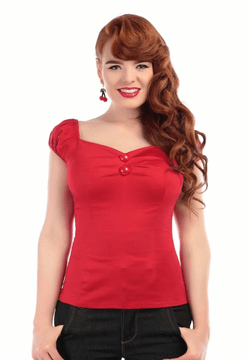 Collectif Dolores top -Rood