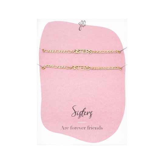 Armband Sisters Forever Friends - goud
