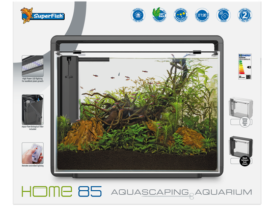 Superfish Home 85 Aquarium Zwart