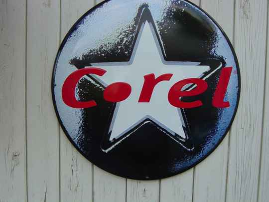 Corel Jeans emaille reclamebord
