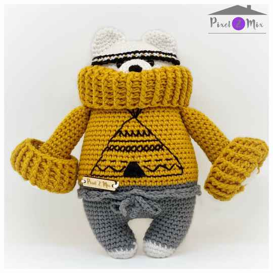 Benito * The Indian Polar Bear * Crocheted Stuffed Toy