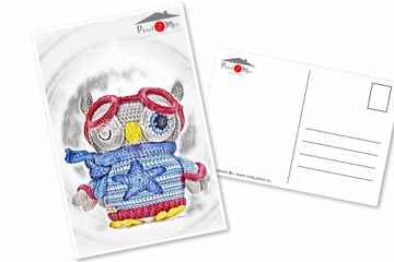 Orwin * The Little Owl with cool glasses * Postcard (2)