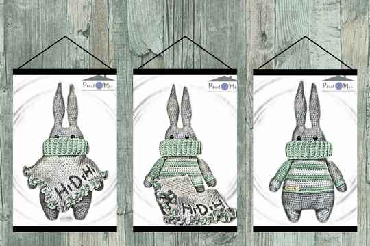 Renzo * The Bunny * Poster A3/A4 * 3-Part