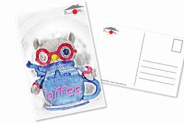 Orwin * The Little Owl and Coffee Cup * Postcard (4)