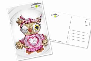 Olivia * The Little Owl with hair band * Postcard (2)