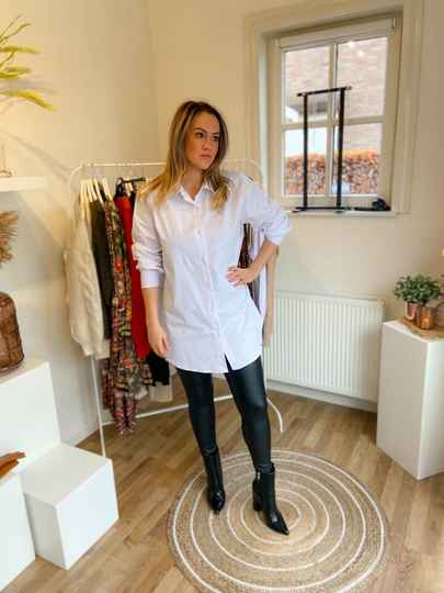 Blouse lang wit of zwart