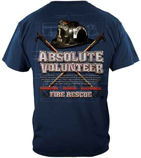 Absolute Volunteer Firefighter Blue