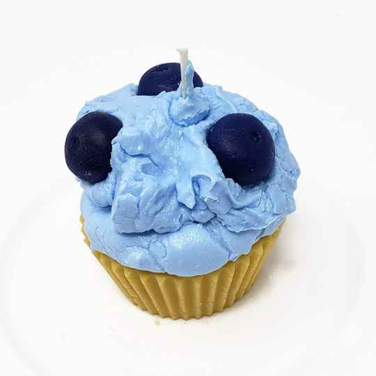 Cupcake Candle Blueberry