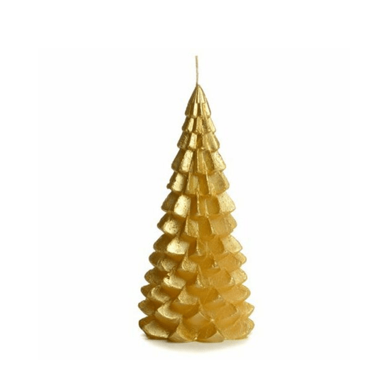 CHRISTMAS TREE CANDLE GOLD