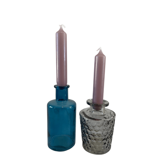 CANDLE HOLDERS GLASSES