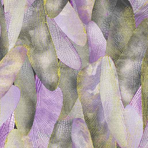 Dragonfly Dance - Gilded Wings - Lavender Gray