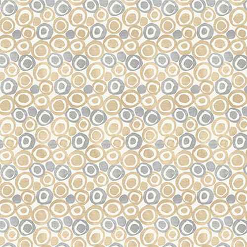 Tessellations Twice - Dots In Circles Ivory - 9956-41