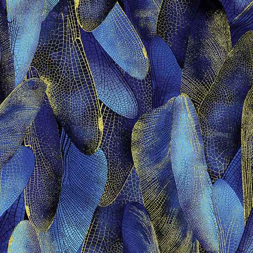 Dragonfly Dance - Gilded Wings - Navy
