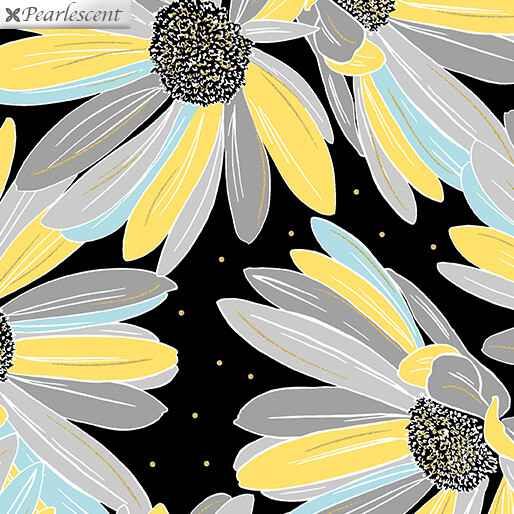 Shimmer And Shine - Daisies - Black