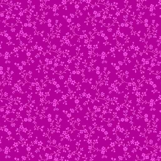 Color Theory - Flowery Vines - Fuchsia