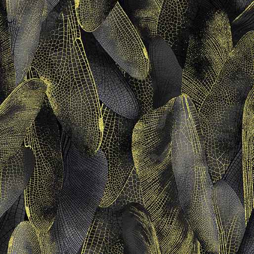Dragonfly Dance - Gilded Wings - Black Charcoal