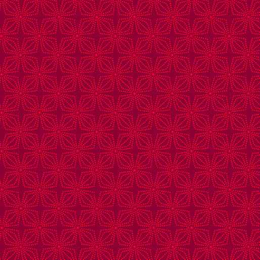 Color Theory - Geo Bloom - Crimson