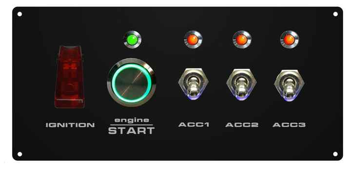 Ignition and startpaneel + 3x acc    COMPLEET
