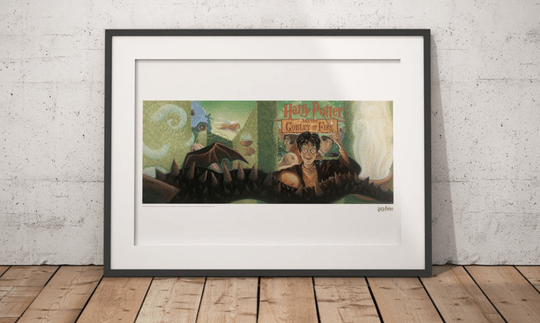Harry Potter - Art Print Goblet of Fire Book Cover - Limited Edition