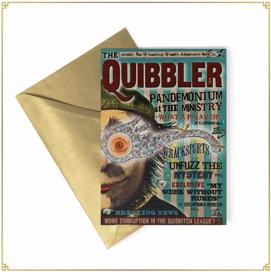 Harry Potter - Notecard The Quibbler - MinaLima