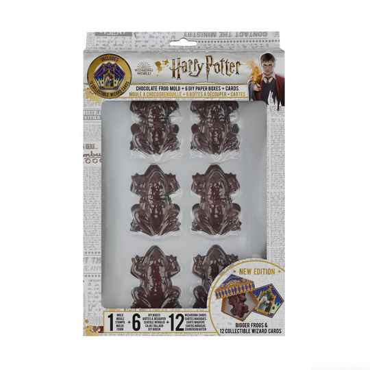 arry Potter: Chocolate Frog Mold with 6 DIY Boxes and 12 Wizard Cards