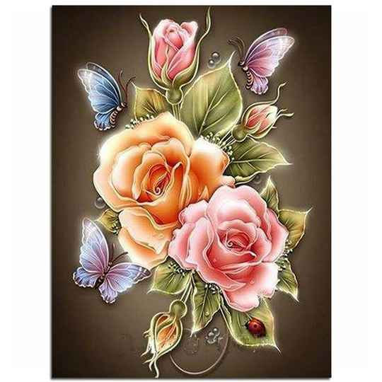 """Diamond painting """" Rose Butterfly"""""""