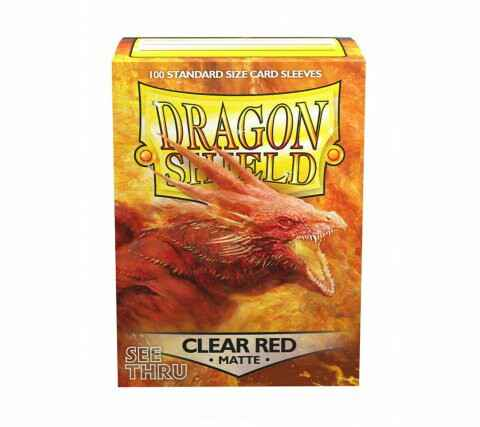 Dragon Shield - Matte Clear Red Sleeves
