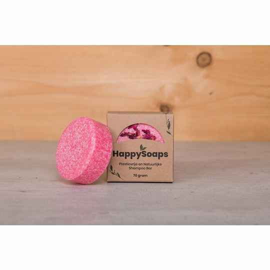 HappySoaps Shampoo Bar - La Vie en Rose - 70 gram