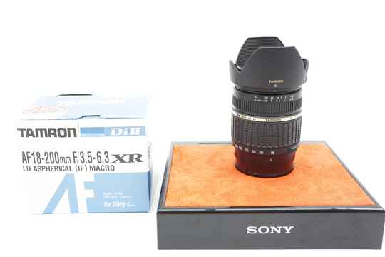 Tamron 18-200mm lens A-mount all-round lens.