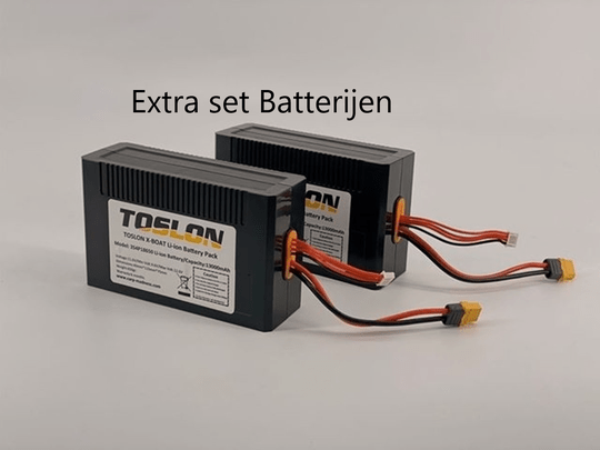 Extra set batterijen voor de Toslosn x-Boats 730