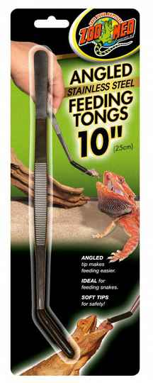 Zoo Med, Angled Stainless Steel Tongs