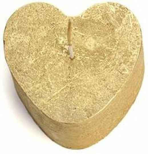 HEART CANDLE GOLD