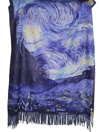 Φουλάρι reproduction of Starry night Van Gogh